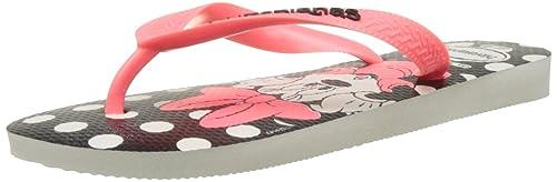 Havaianas Disney Stylish, Chanclas Estampadas para Unisex Adulto, Multicolor (White/Coral New