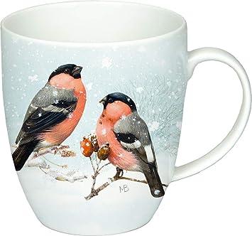 Wintervögel Becher Ca Home Tasse Porzellan Collection Henkelbecher 4j5RAL