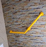MDRW-Bathroom Handrail The Bathrooms Are 135 Degrees Of Older Persons With Disabilities Barrier-Free-Armrest Nylon Armrest 450450Mm Yellow