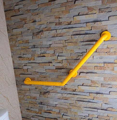 MDRW-Bathroom Handrail The Bathrooms Are 135 Degrees Of Older Persons With Disabilities Barrier-Free-Armrest Nylon Armrest 450450Mm Yellow by Olici