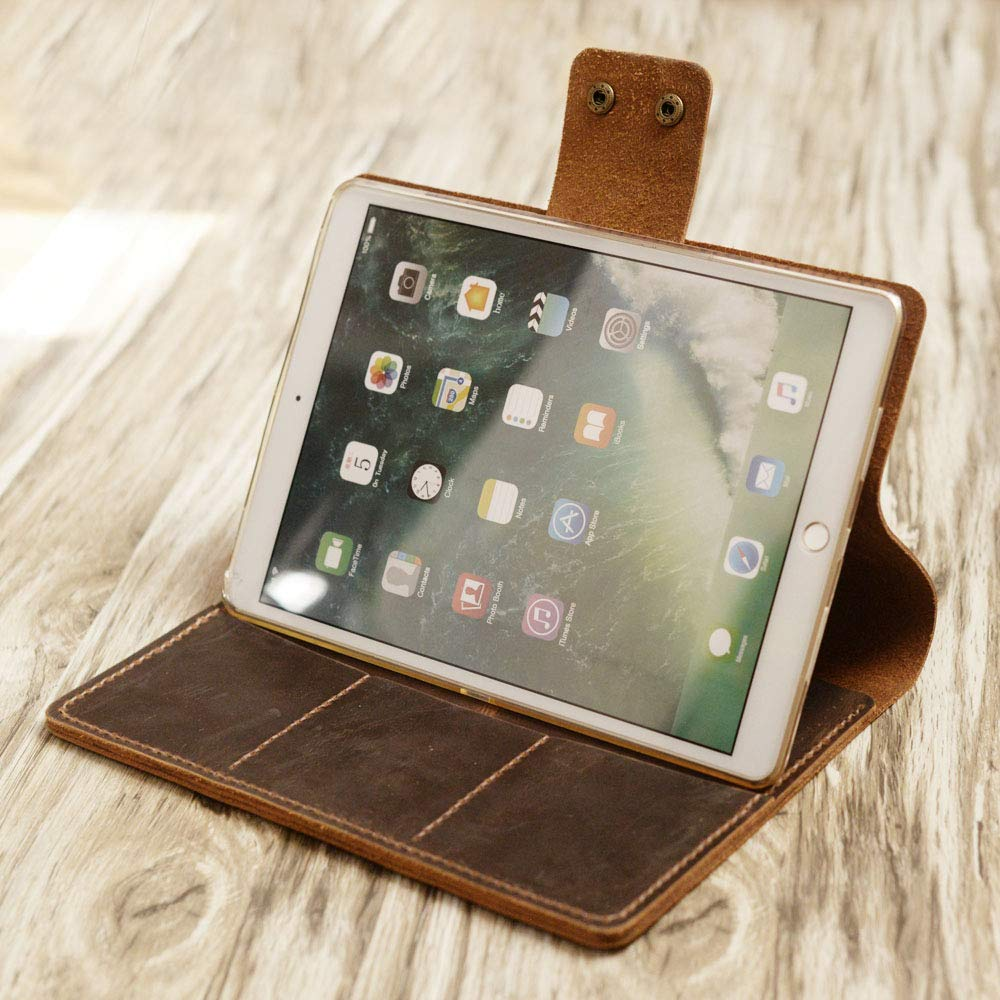 Personalized iPad Pro 10.5/9.7/12.9 leather cover portfolio apple pencil holder iPad cover case for New iPad 9.7 / Pro 10.5/12.9 Luxury Leather portfolio Cover