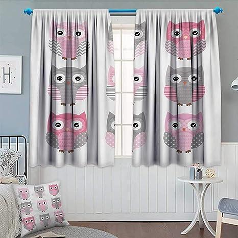 Amazonchaneyhouse ピンクグレー 部屋を暗くするカーテン キュートな