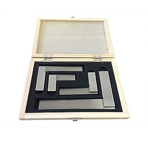 Kaufhof ASS-5535 Precision Steel Squares Set 4 Piece