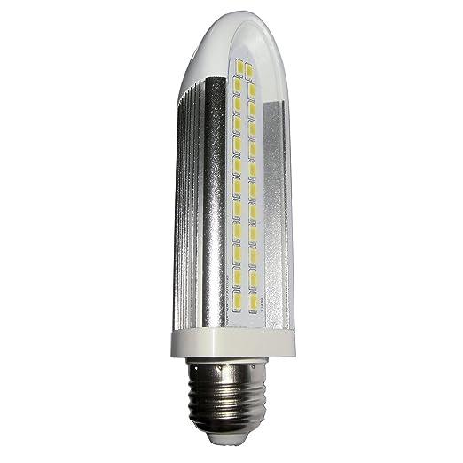 LightED Bombilla LED E27, 10 W, Blanco y Plata, 145 x 35 x