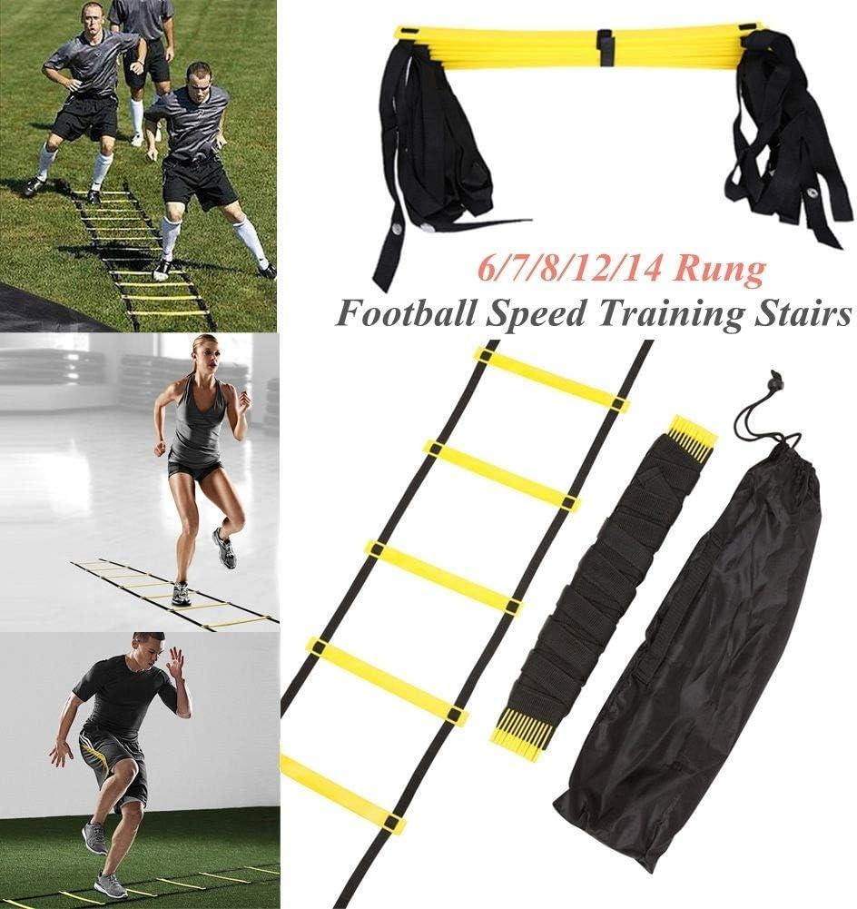 Auplew Escaleras de Nylon Escalera de Entrenamiento Escaleras de la Escalera de la Agilidad para el f/útbol Escalera de la Velocidad Deporte Equipo de la Aptitud