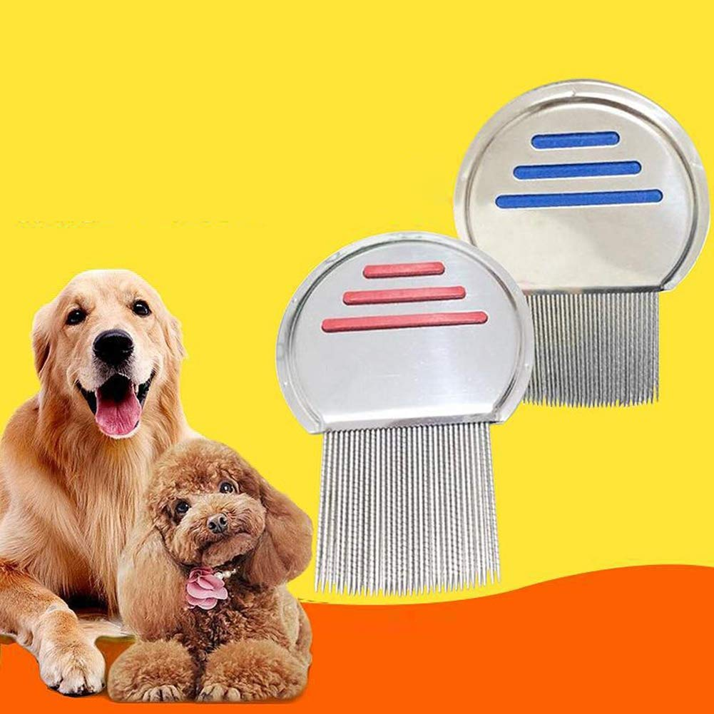 PanDaDa Pet Dog Cat Grooming Comb Hair Grooming Comb Durable Stainless Steel Tooth Comb