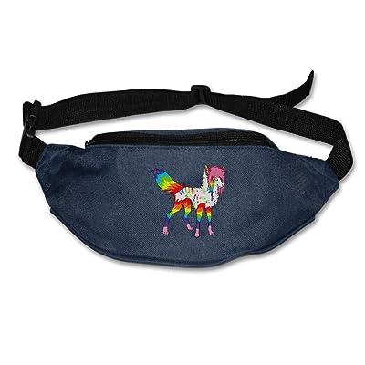 Yahui Cool Rainbow Little Wolf Waist Bag Fanny Pack / Hip Pack Bum Bag For Man Women Sports Travel Running Hiking / Money IPhone 6 / 7 6S / 7S Plus Samsung S5/S6 50%OFF