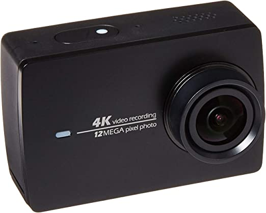 Cámara de acción YI 4k y estabilizador Manual de cardán de 3 Ejes, Soporte de cámara PTZ con Palo para Selfie, Control Remoto Bluetooth y Estuche de Viaje