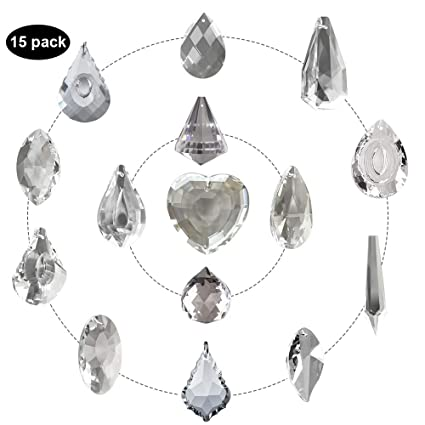 1 Clear Hanging Glass Crystal Pipa Drop Pendant Chandelier Lamp prism Parts 50mm