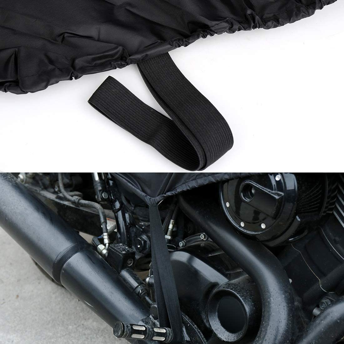 L XL SIZE Motorcycle Half Cover 210T universal Outdoor Waterproof Dustproof Rain Dust UV Protector Motorcycle Bike Color : L