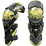 Dolity オートバイ 膝パッド 膝プロテクター ガード ニーパッド 弾性ストラップ付き 保護装置 2個入り 全3色 - 黄