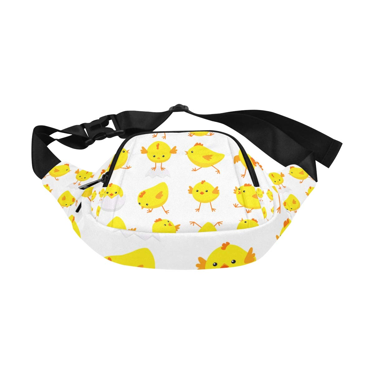 Yellow And Orange Chickens Fenny Packs Waist Bags Adjustable Belt Waterproof Nylon Travel Running Sport Vacation Party For Men Women Boys Girls Kids