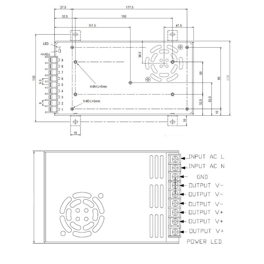 12v 30a Dc Universal Regulated Switching Power Supply 360w For Cctv Block Diagram Of Radio Computer Project Buy