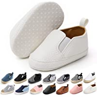 Meckior Infant Baby Girls Boys Canvas Shoes Soft Sole Toddler Slip On Newborn Crib Moccasins Casual Sneaker Austin Boy's…