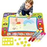 "Large Doodle Mat Toddler Toys Magic Water Drawing Mat Toddlers Painting with 4 Pens 8 Molds for kids  Writing Mats Boys Girls Educational Learning Gift Size 31.5"" X 23.6"" by SPCEUTOH"