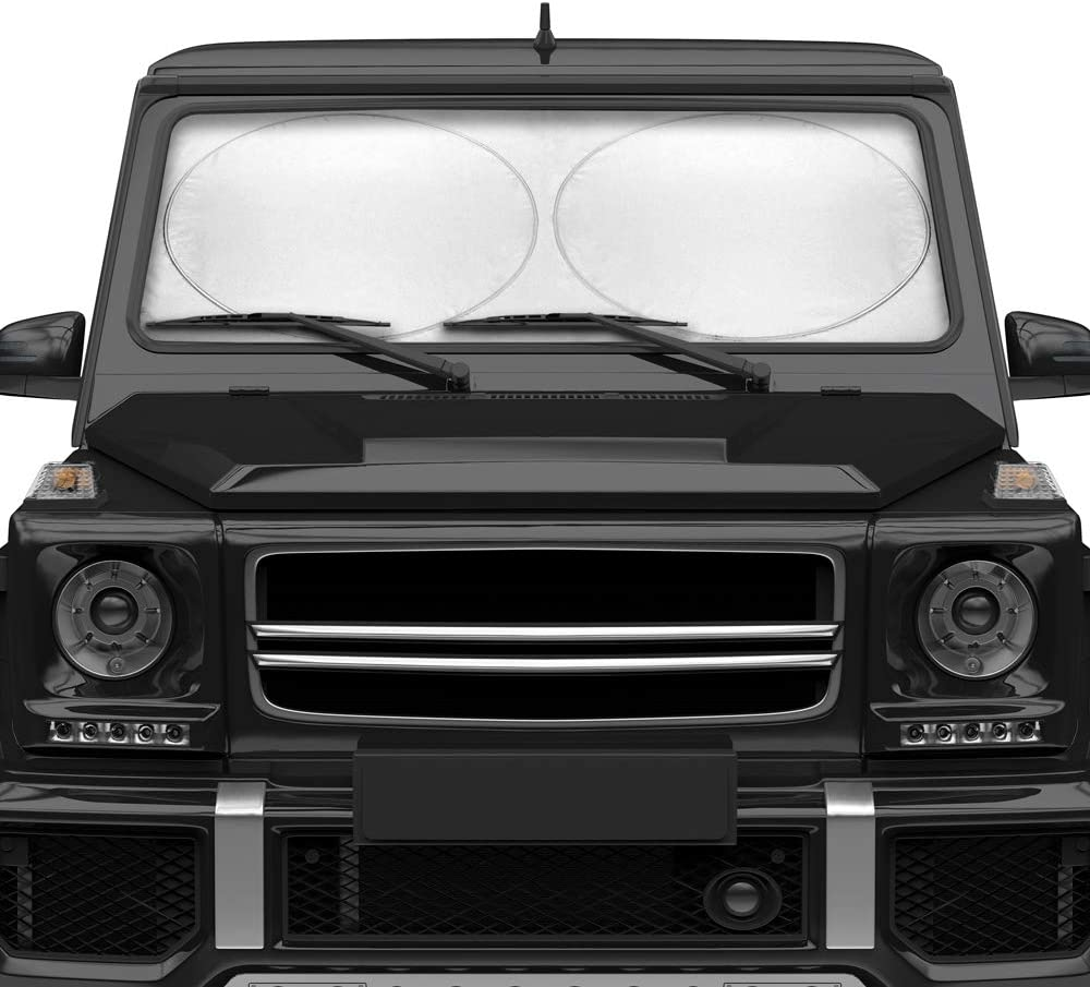 Jumbo Pro Foldable Pop Up Auto Windshield Sunshade - Keeps Your Car SUV Truck Interior Cool - UV Block, 64 x 34 Inches