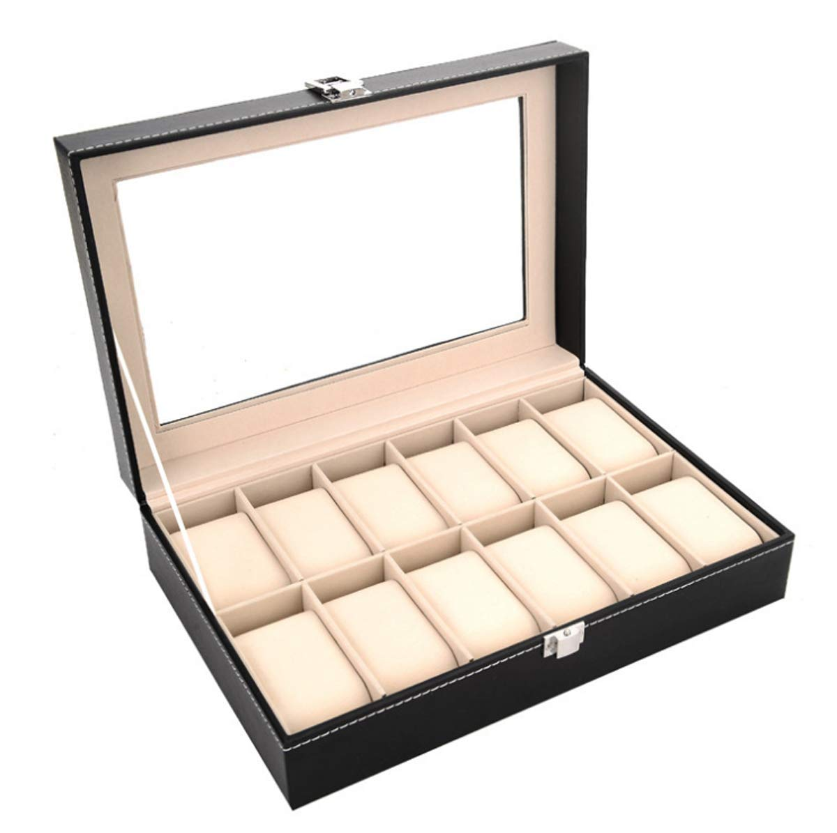 Other 12 Grid Leather Watch Display Case Jewelry Collection Storage Organizer Box Holder        Amazon imported products in Islamabad