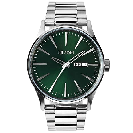 Nixon Sentry SS - Reloj (Reloj de pulsera, Masculino, Acero inoxidable, Acero