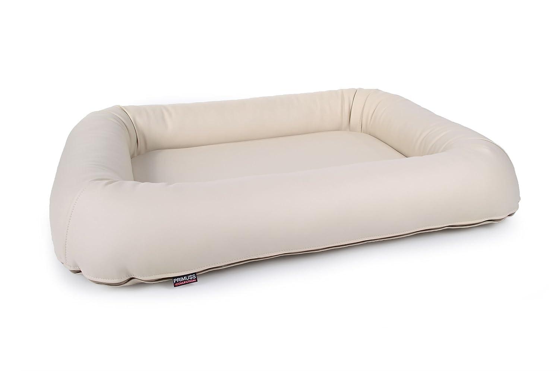 Ortopedico cuscino cuscino cuscino per cani primuss, in eco pelle con bordo spesso in crema ortopedico Cuscino per Cani Cuccia ddc9be