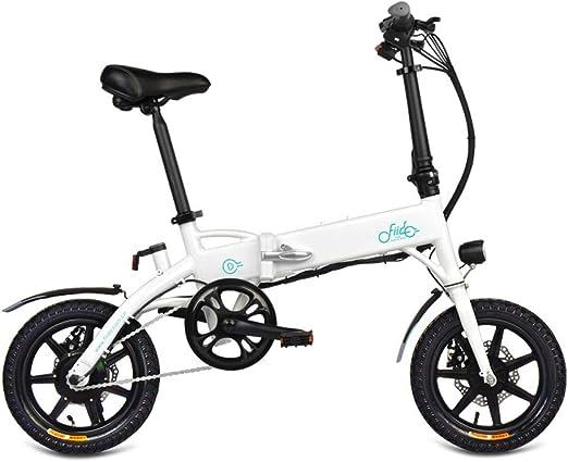 L&U Bicicleta eléctrica Plegable de 14