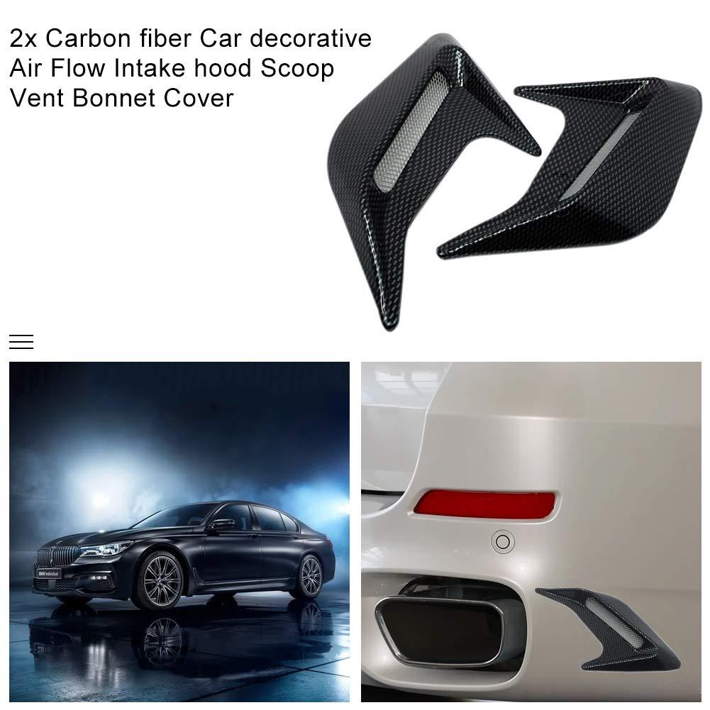 Ahomi 2/pcs de voiture universel D/ébit dair dadmission Capot Scoop Bonnet Vent Couverture d/écorative