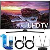 Samsung UN49MU6290FXZA 48.5'' LED 4K UHD Smart TV (2017 Model) Bundle with TV, 6ft High Speed HDMI Cable x 2, HDTV and FM Antenna, and Universal Screen Cleaner