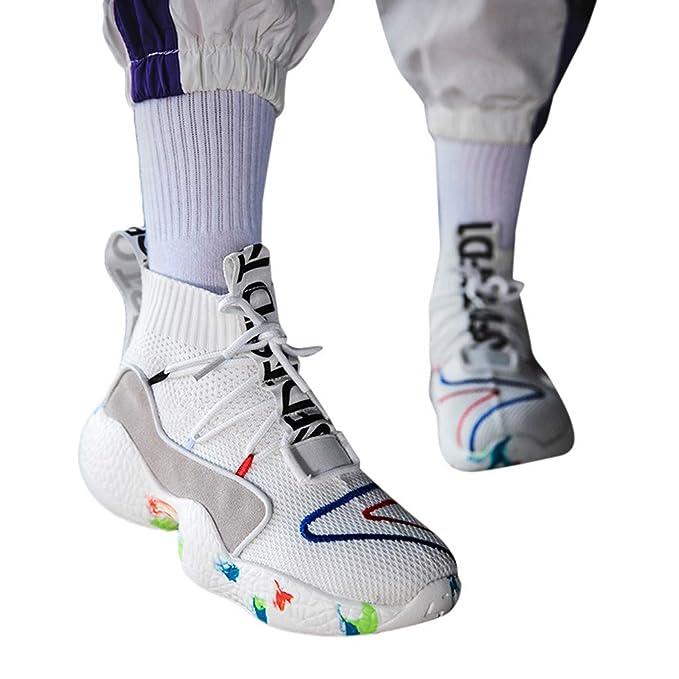 ABsolute Zapatos Zapatillas Hombre Running Deportivos con Cordones de Malla para Exterior Calzado Transpirable para Hombre Zapatos Hombre Deportivos Calzado ...