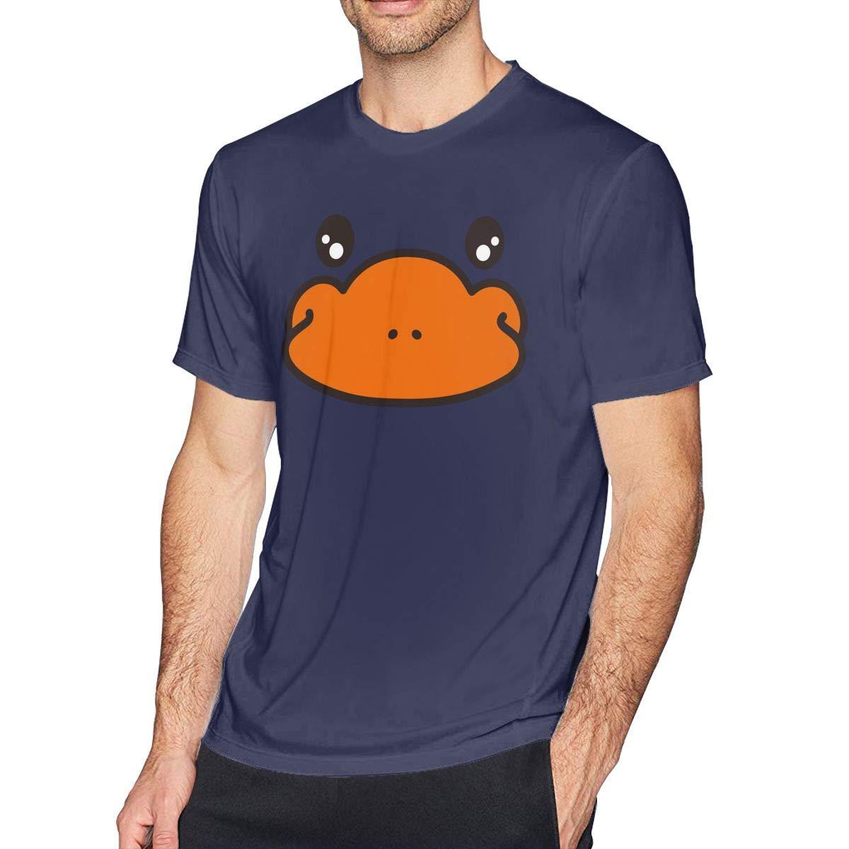 SHENGN Mens Customized Platypus Face O-Neck Ironic T Shirts Deep Heather