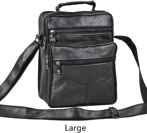 Urmiss TM Leather Crossbody Shoulder Tablet iPad Bag Briefcase Handbag Day Bag for Men and Women
