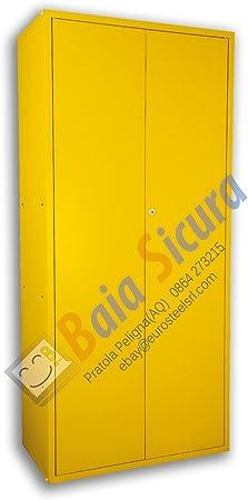 Armario escobero portadetersivi 180 x 100 x 40 Multicolor: Amazon ...