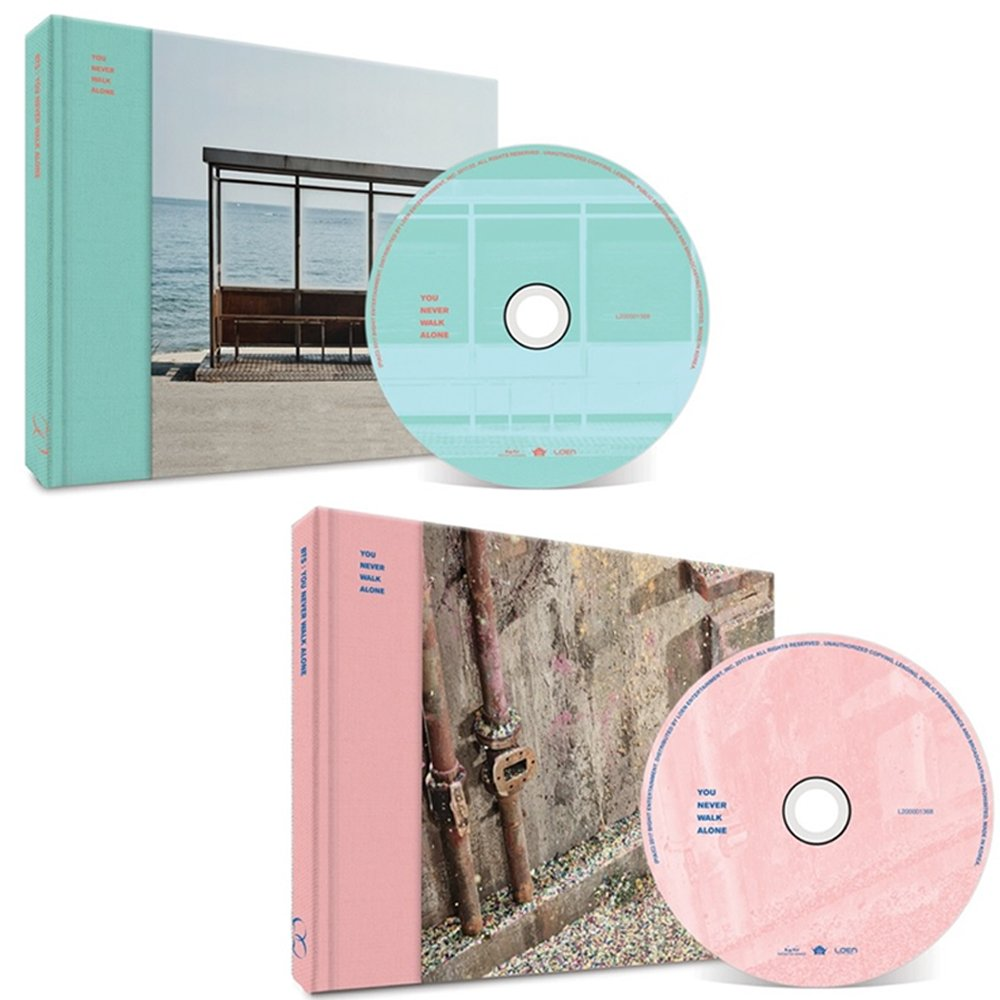 BTS WINGS KPOP YOU NEVER WALK ALONE BANGTAN BOYS [Left + RIGHT Ver. SET] Album 2CD + 2 Posters + 2 Photobooks+ 2 Photocards