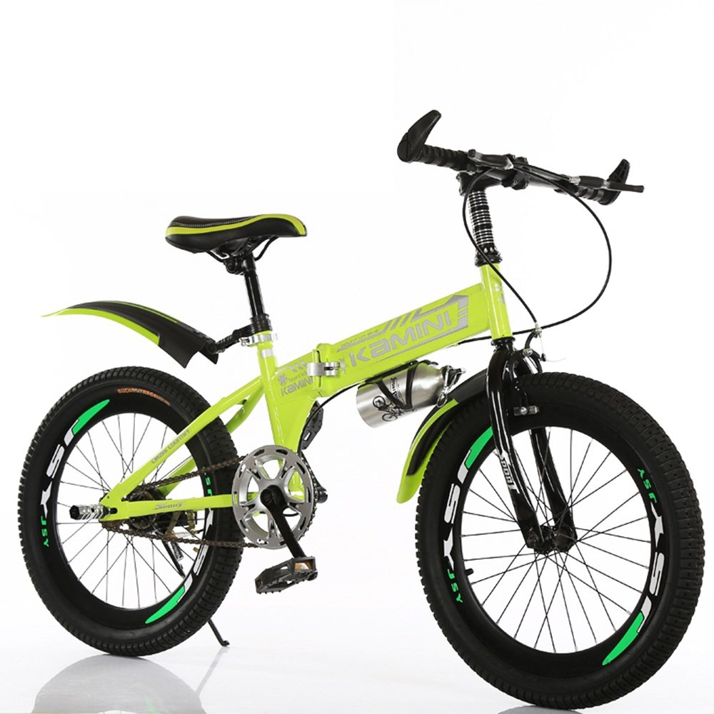 美しい 家18/20/22インチ6-8-10-12歳の子供用自転車、男の子と女の子の折りたたみ式シングルスピード小学校の自転車(多色オプション) (色 : イエロー いえろ゜, サイズ さいず : 20 inches) B07D1PZQ7Wイエロー いえろ゜ 20 inches