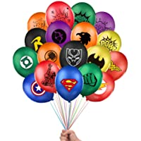 """40 Pack Superhero Party Supplies Superhero Balloons Double Sided 12"""" Latex Balloons for Kids Birthday Party Favor…"""