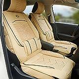 Urlifehall BEIGE Car Seat Cover Cushions Leather, Auto se...