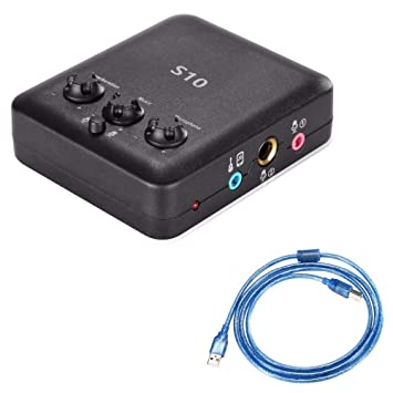 HATCHMATIC Neewer - Tarjeta de Sonido Externa USB con diseño ...