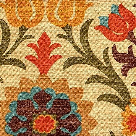 Gathered 22 Santa Maria Adobe Floral Cal King Bedskirt Cotton