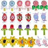 Tiny Flower Candy Boutique Bows Clips For Toddler Girls Fine Hair 12 Pairs LCLHB