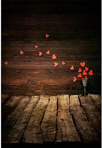1 5x8 1 M Neonato Legno Fotografia Sfondo Stampato Rosso Amore Cuori San Valentino Bambini Foto Sparare Sfondo Tavole Di Legno Pavimento Amazon It Elettronica