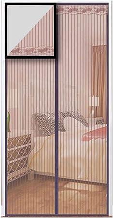 QDR Mosquitera para Puerta de Terraza Corredera, Cortina Magnética para Puerta, Marco Completo Velcro Mantenga alejado de los Mosquitos, para Barcos de Pesca, Barcos,110x220cm(43x87inch): Amazon.es: Hogar