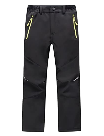 62bb24e8d9 LANBAOSI Kids Boys Girls Waterproof Outdoor Hiking Pants Warm Fleece Lined  Black