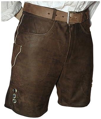 Lederhose Trachten kurz braun speckig große Größe 70 Bundumf  136-143cm  Glattleder Patina Herren Trachtenlederhose Reißverschluß Zipp Wildbock-Leder  ... a8b6b055a2