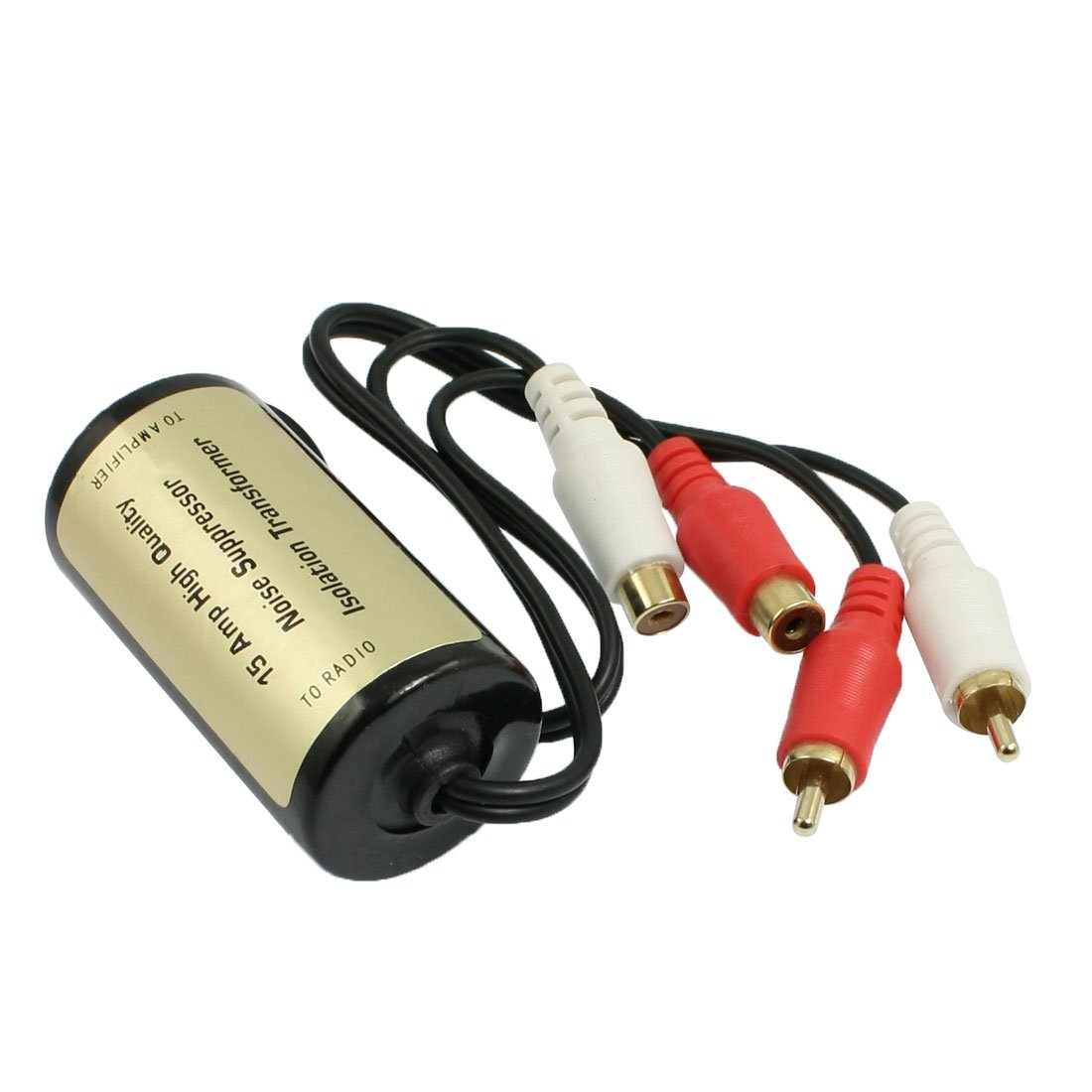Aexit Car RCA Male to Female Ground Loop Isolator Noise Filter 15A