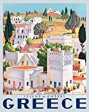 "Island of Andros Greece City Landscape Travel Tourism Vintage Poster Repro Standard Image Size for Framing. We Have Other Sizes Available (16"" X 20"" Image Matte Paper)"