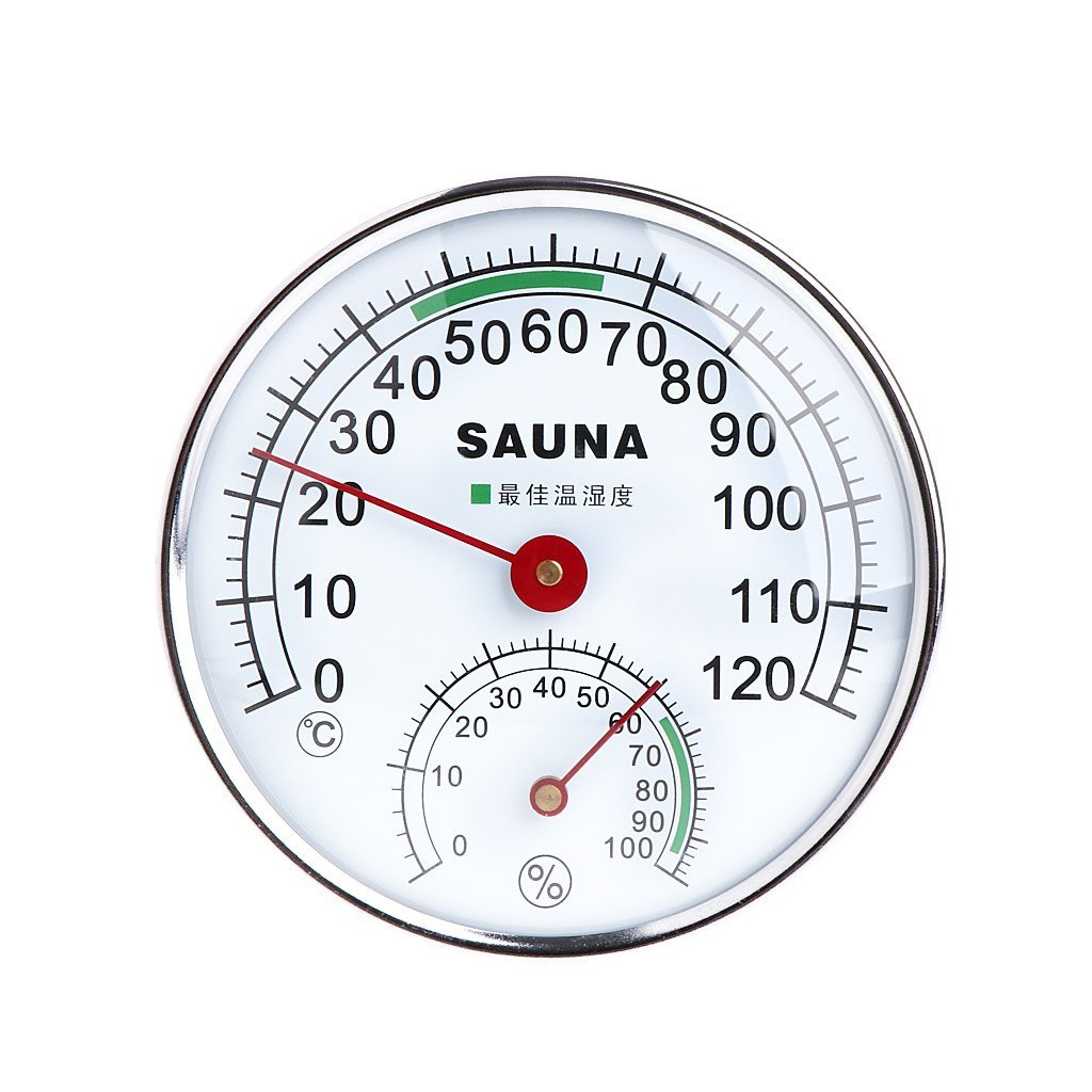 Sixsons Stainless Steel Thermometer Hygrometer For Sauna Room Temperature/Humidity Meter (#059)