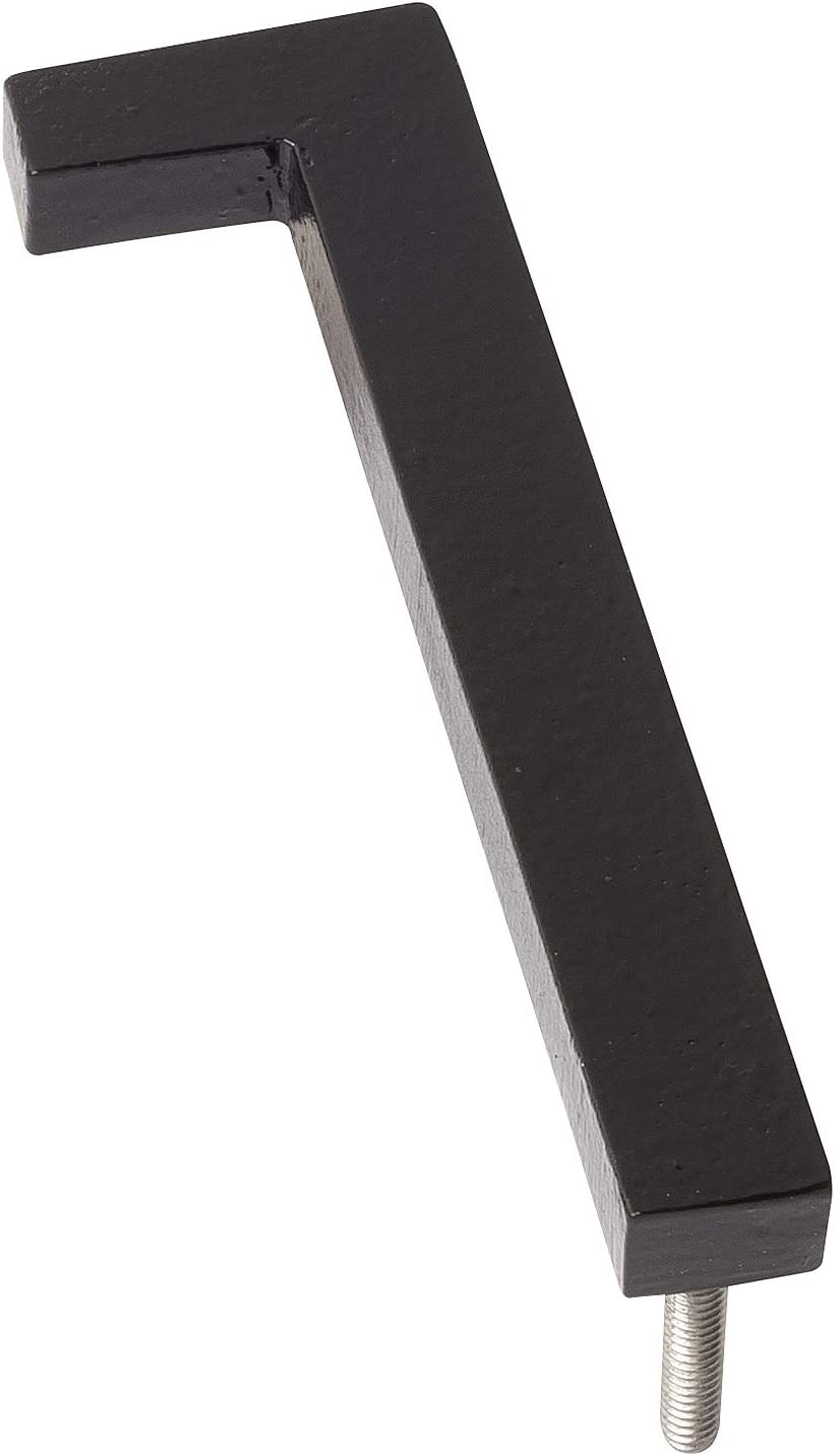 Montague Metal Products MHN-04-0-F-BK1 Floating House Number 4 inches x 3.56 inches x 0.31 inches Black