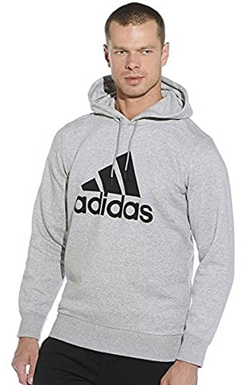 Amazon.com  adias Men s Sport Essentials Fleece Logo Hoodie (X-Large ... fae63a2edf