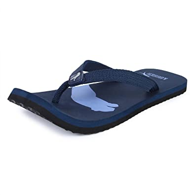 d30ae77f2 kugger unisex Atlanta blue flip flops  Buy Online at Low Prices in India -  Amazon.in