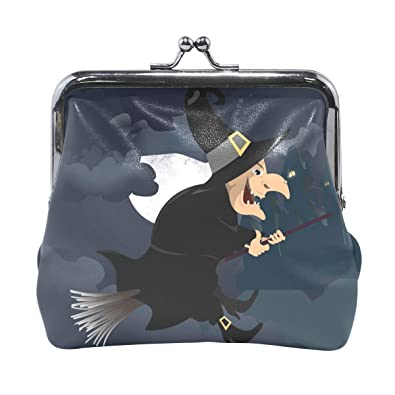 Amazon.com: LALATOP Halloween Witch - Monedero para mujer ...