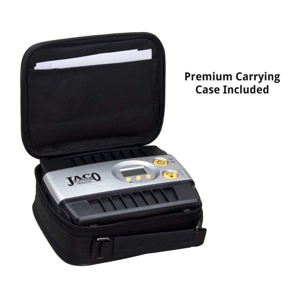 JACO SmartPro Digital Tire Inflator Pump - Premium 12V Portable Air Compressor - 100 PSI by JACO Superior Products (Image #8)