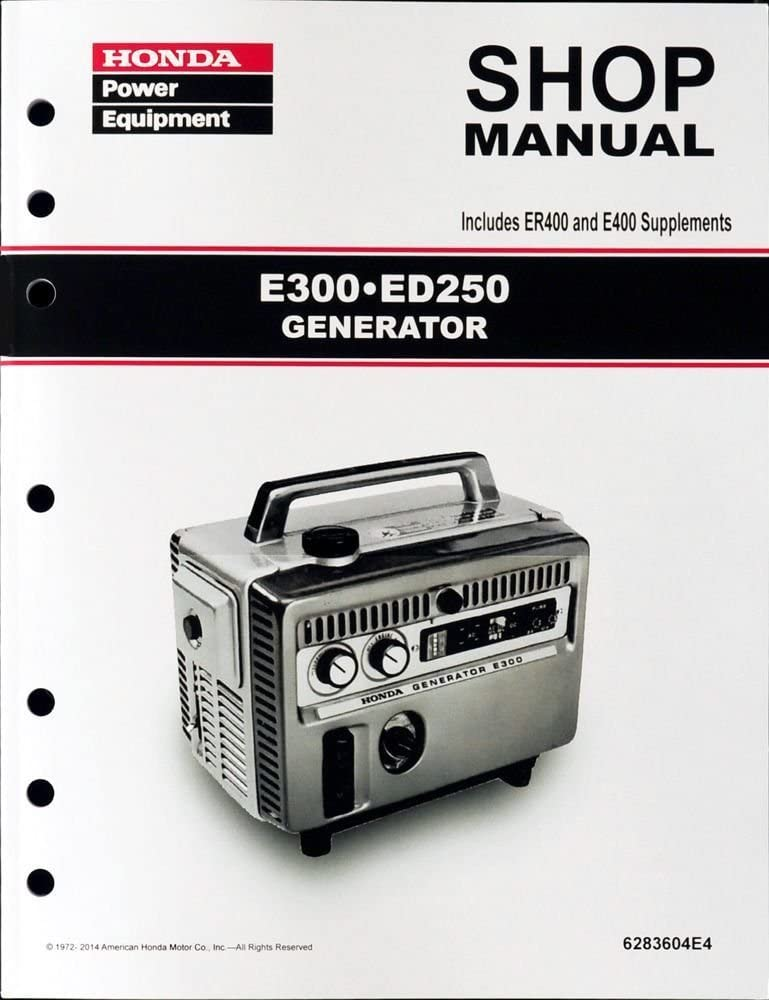 Honda E300 E400 ED250 ER400 Generator Service Repair Shop Manual  supply_st#_hondapepubs GH83WGF5461338797: Amazon.ca: Home & KitchenAmazon.ca